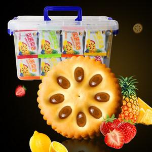 5口味果酱夹心<span class=H>饼干</span>4斤整箱包邮儿童早餐零食小吃
