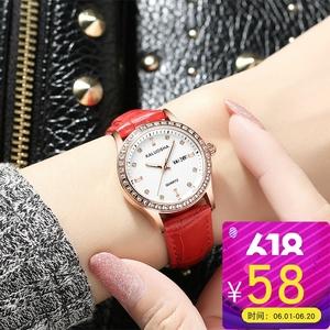 新款别样<span class=H>手表</span>女士学生韩版简约休闲大气时尚潮流防水皮带石英女表