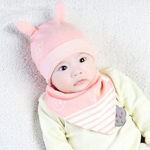婴儿<span class=H>帽子</span>春秋季宝宝<span class=H>帽子</span>0-3-6-12个月纯棉新生幼儿胎帽男女童睡帽