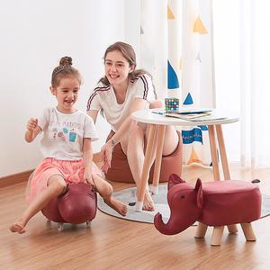 时尚创意小牛儿童动物换鞋凳板凳家用脚凳<span class=H>矮凳</span>小木凳子实木沙发凳