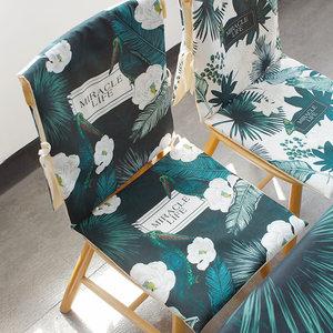 欧式餐椅垫透气酒店坐垫办公室夏季椅子套罩家用定做连体椅套背靠