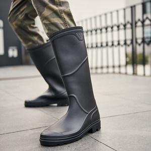 雨鞋男士高筒劳保工作成人大码水靴钓鱼休闲时尚韩版防水长筒<span class=H>雨靴</span>