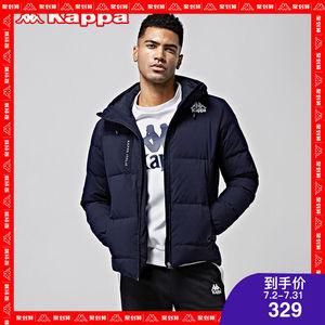 kappa羽绒服男款短款保暖加厚棉服运动外套男冬季K0752YY10D
