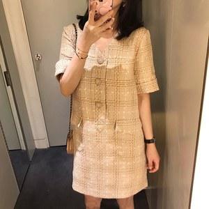 ZOW呛口小辣椒同款夏季新品气质优雅 香风 夏季薄款连衣裙