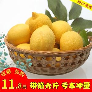 【6斤装】现摘现发安岳新鲜黄小柠檬