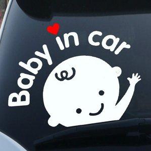 反光贴babyincar<span class=H>车贴</span>宝宝在车里汽<span class=H>车贴</span>纸卡通贴 婴儿<span class=H>车贴</span>