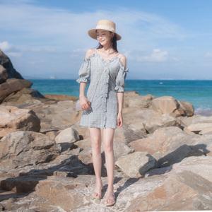 2019夏季新款女装普吉岛沙滩裙海边度假很仙的裙子性感吊带连衣裙