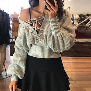 毛衣女秋季潮牌个性百搭显瘦针织衫ins超火的短上衣套头针织卫衣