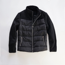 80 white duck down short collar zipper jacket black men's jacket cotton down jacket for autumn and winter warmth