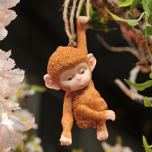 Outdoor Garden Courtyard Small Monkey Tree Decoration Hanging Horticultural Landscape Jewelry Creative Lovely Living Room Home