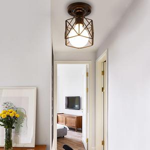 北欧现代简约过道灯个性创意阳台吸顶灯厨房铁艺吊灯走廊入户灯具