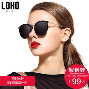 LOHO新款<span class=H>太阳</span>镜女防紫外线近视墨镜圆脸时尚<span class=H>眼镜</span>女韩版潮偏光镜