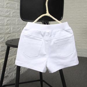 夏季新款儿童纯棉白色夏款韩版童裤<span class=H>男</span>童女童<span class=H>宝宝</span>全棉<span class=H>短裤</span>裤子<span class=H>包邮</span>