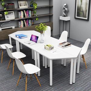 小型会议桌拼接简约现代梯形培训桌简易<span class=H>办公桌</span>洽谈桌椅组合异形桌