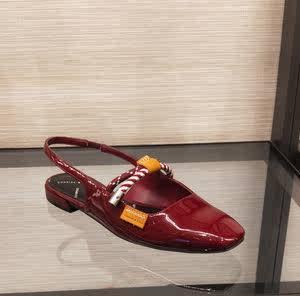 <span class=H>正品</span>小ck<span class=H>女鞋</span>新品单鞋春CK1-70380658绳结<span class=H>平底</span>低跟鞋凉鞋漆皮<span class=H>女鞋</span>