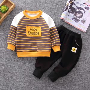 <span class=H>宝宝</span>冬装套装男0一1-3岁童装男童加绒卫衣婴幼儿童秋冬衣服两件套