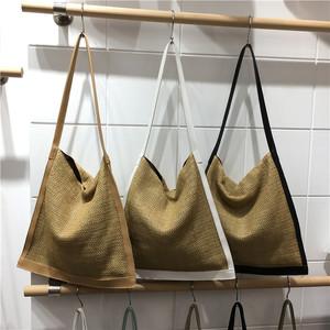 小脏柜 韩国草编单肩包ins超火女网红草包手提大容量斜挎包手挽包