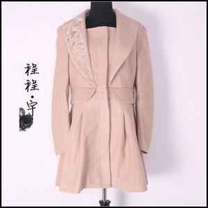 梦家秋冬款风衣女士专柜品牌高端个性收腰22%羊毛呢子大衣0920