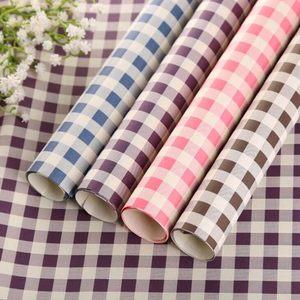 小清新彩色格子牛皮包装纸花束纸墙纸包书纸鲜花礼物包装纸