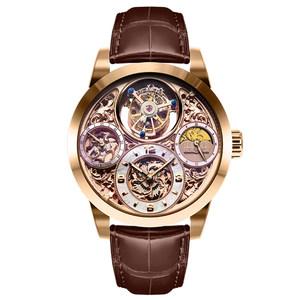 正品联保万希泉陀飞轮腕表 机芯表 收藏表星空传奇系列尊爵版金色