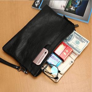 夏季男<span class=H>手包</span>2017新款潮流韩版时尚手拿包软皮大容量信封包休闲夹包