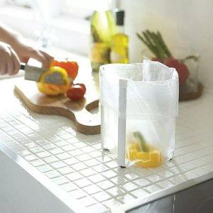 创意多功能垃圾桶干湿分类桌面厨房家用折叠简约收纳置物架垃圾架