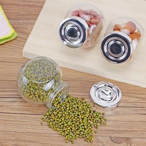 9.9包邮 玻璃带盖密封罐 玻璃瓶子 储物罐 干果收纳瓶子 厨房用品