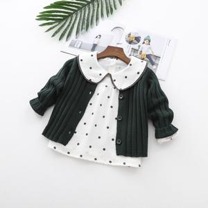 宝宝毛衣外套婴儿春装线衫儿童纯棉针织<span class=H>开衫</span>2019新款女童毛线衣