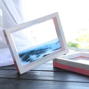 沙漏画3d玻璃<span class=H>流沙画</span>流动山水创意办公室客厅装饰品摆件生日礼物