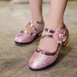 春秋季4女童单鞋5水晶公主10<span class=H>皮鞋</span>6亮片7拉丁舞鞋8女孩9<span class=H>高跟鞋</span>12岁