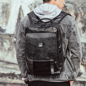 男士双肩背包休闲欧美时尚潮流酷炫大容量学生书包运动旅行电脑包