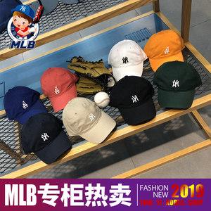 韩国专柜<span class=H>MLB</span>棒球帽小标正品19新款夏女同款鸭舌帽NY洋基队<span class=H>帽子</span>LA