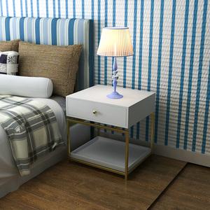 北欧<span class=H>床头柜</span>简约现代卧室收纳储物柜简易置物柜铁艺小柜子沙发边几