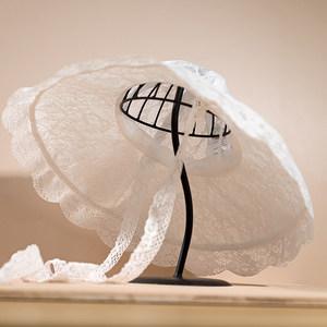 优雅法式蕾丝镂空赫本<span class=H>渔夫帽</span>女薄款大帽边系带夏防晒遮阳太阳帽子