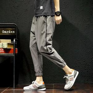 工装裤男休闲裤小脚哈伦裤九分裤