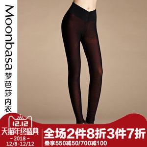 Moonbasa/梦芭莎时尚网格收腹修身高腰加厚<span class=H>拉毛</span><span class=H>保暖裤</span>长裤女士