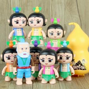 正版金刚葫芦娃儿童玩具 唱歌葫芦兄弟套装可动变形公仔<span class=H>人偶</span>模型