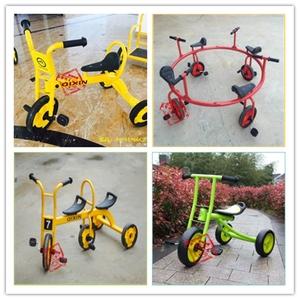 幼儿园儿童三轮车脚踏车儿童自行车户外幼儿双人脚踏车宝宝手推车