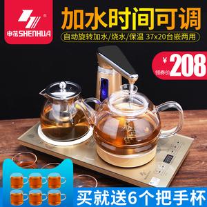 全自动上水电热烧水壶<span class=H>电磁</span><span class=H>茶炉</span>茶具套装家用抽水式玻璃保温泡茶壶