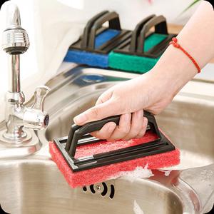 新奇特创意家居居家生活清洁实用小<span class=H>工具</span>日用小百货去污海绵清洁刷
