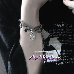 星星吊牌雕刻—不锈钢钛钢<span class=H>手链</span>手环