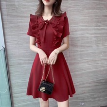 Dresses Summer 2019 New Women's Dresses Smoke French Little Platycodon Skirt Popular Mid-long A-shaped Skirt Children Summer.