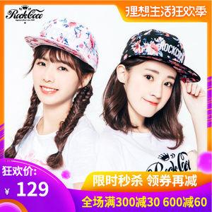 ROCKCOCO 放肆爱恋<span class=H>棒球帽</span> 粉色 黑色 碎花遮阳帽女款