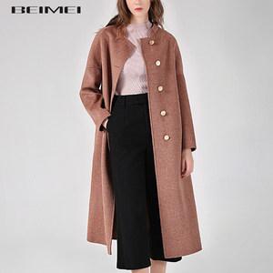 反季双面零羊绒<span class=H>大衣</span>女中长款2018新款高端茧型双面羊毛呢<span class=H>大衣</span>立领