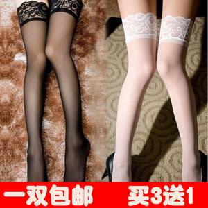 蕾丝硅胶防滑长筒袜子女韩国日系情趣性感高筒过膝大腿半截丝袜女