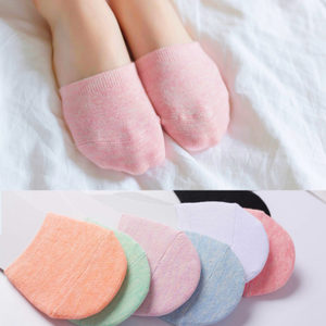 5双装半截袜 夏季包头袜脚掌袜棉袜袜套全隐形前脚掌男女隐形袜子