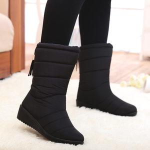 韩版少女大童棉鞋加绒雪地靴子平底甜美可爱<span class=H>短靴</span>学生半桶公主冬鞋