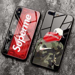苹果6splus手机壳iphone6plus软边i6女款男潮牌6s<span class=H>保护套</span>iphone六6新款防摔个性创意超薄全包玻璃镜面高档抖音
