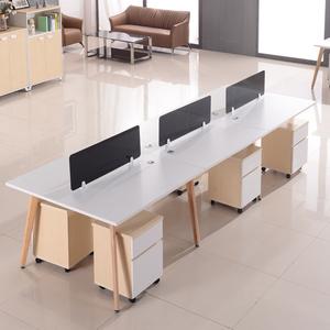 职员<span class=H>办公桌</span> 4人位简约现代员工桌椅组合6人位卡座办公家具 办工桌