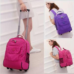 双肩拉杆背包双肩<span class=H>旅行包</span>学生拉杆书包女孩上班行李箱登机行李包